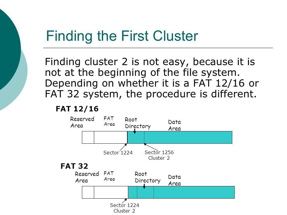 Finding the First Cluster