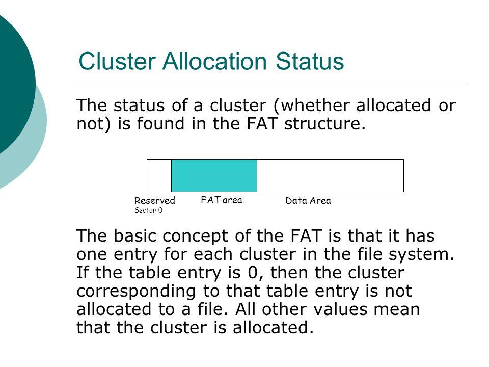 Cluster Allocation Status