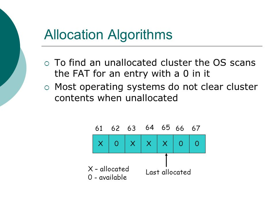 Allocation Algorithms