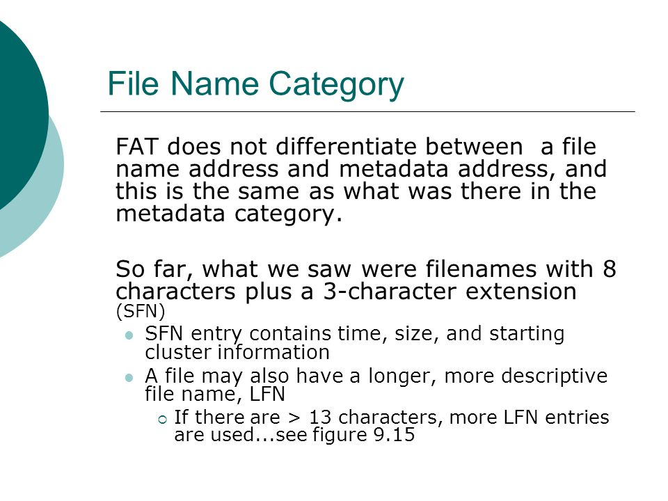 File Name Category