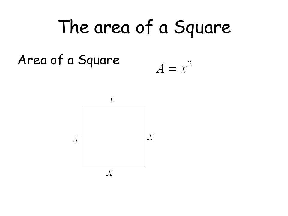 The area of a Square Area of a Square