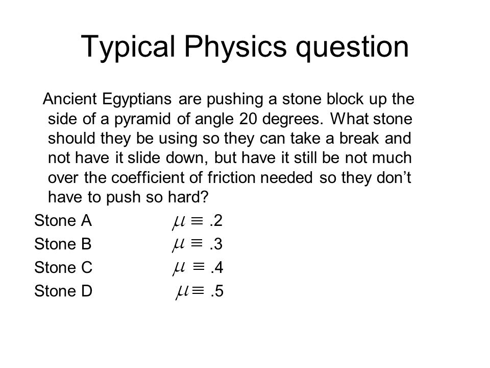 Typical Physics question