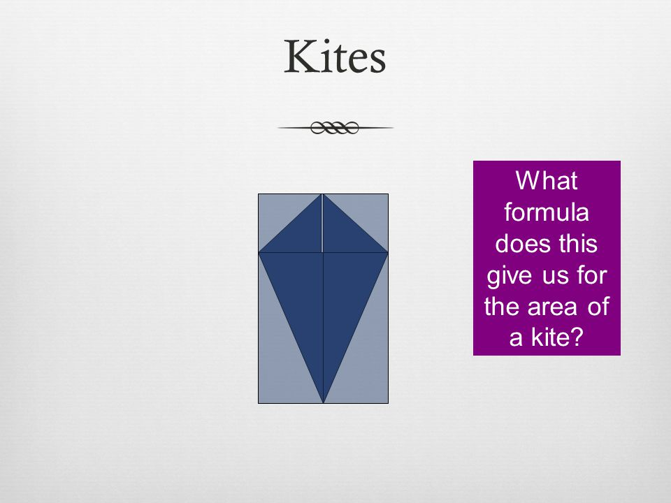 What formula does this give us for the area of a kite