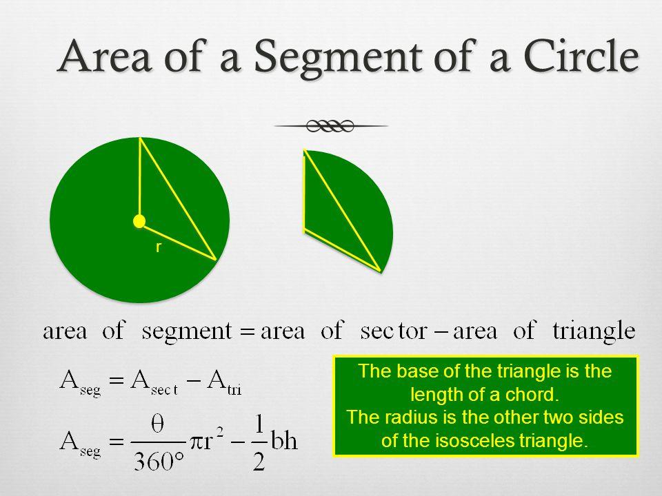 Area of a Segment of a Circle