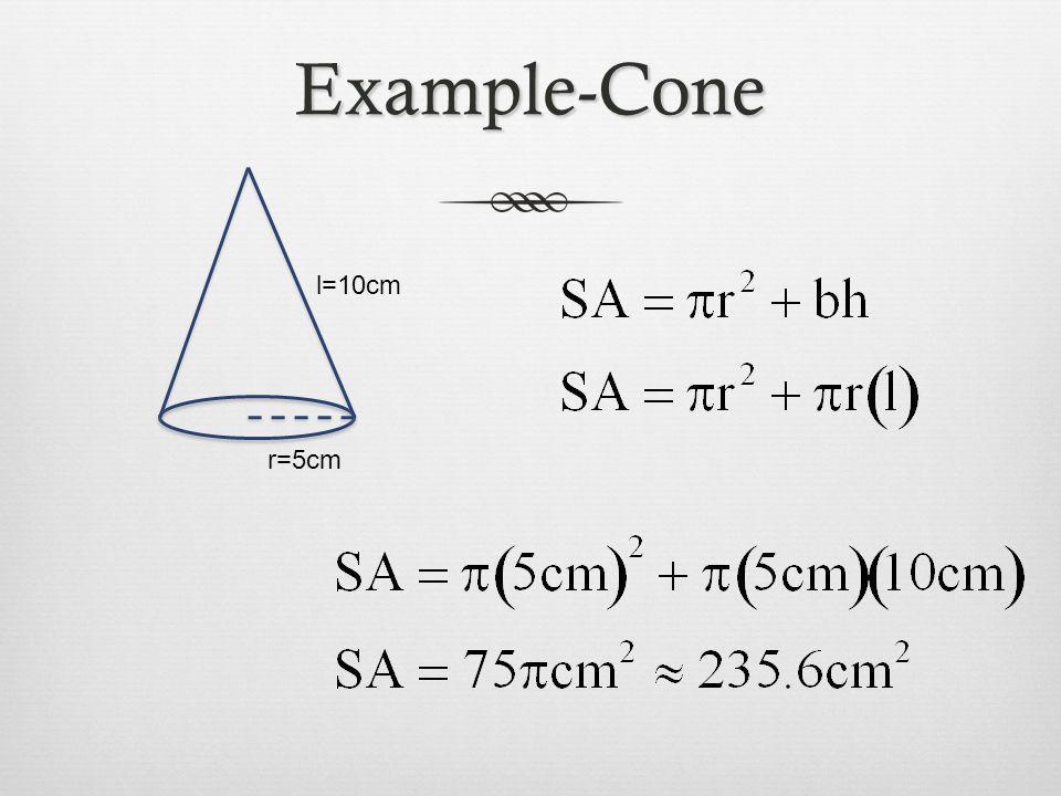 Example-Cone l=10cm r=5cm