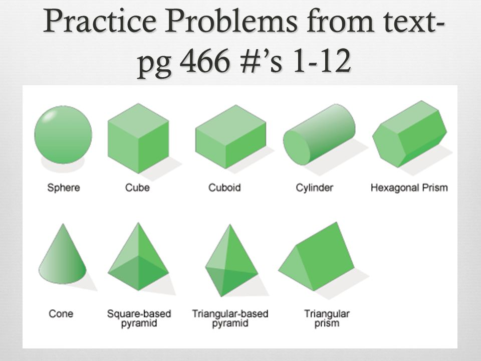 Practice Problems from text-pg 466 #'s 1-12