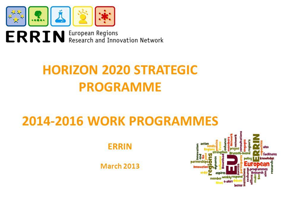 HORIZON 2020 STRATEGIC PROGRAMME
