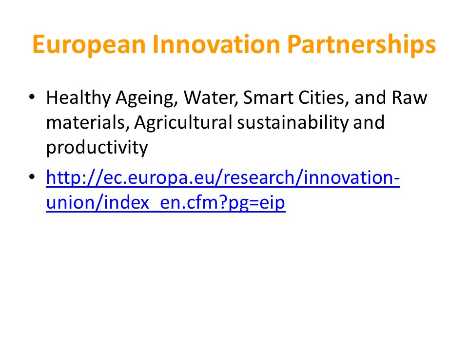 European Innovation Partnerships