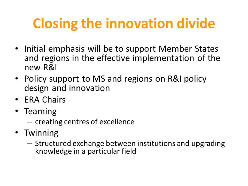 Closing the innovation divide