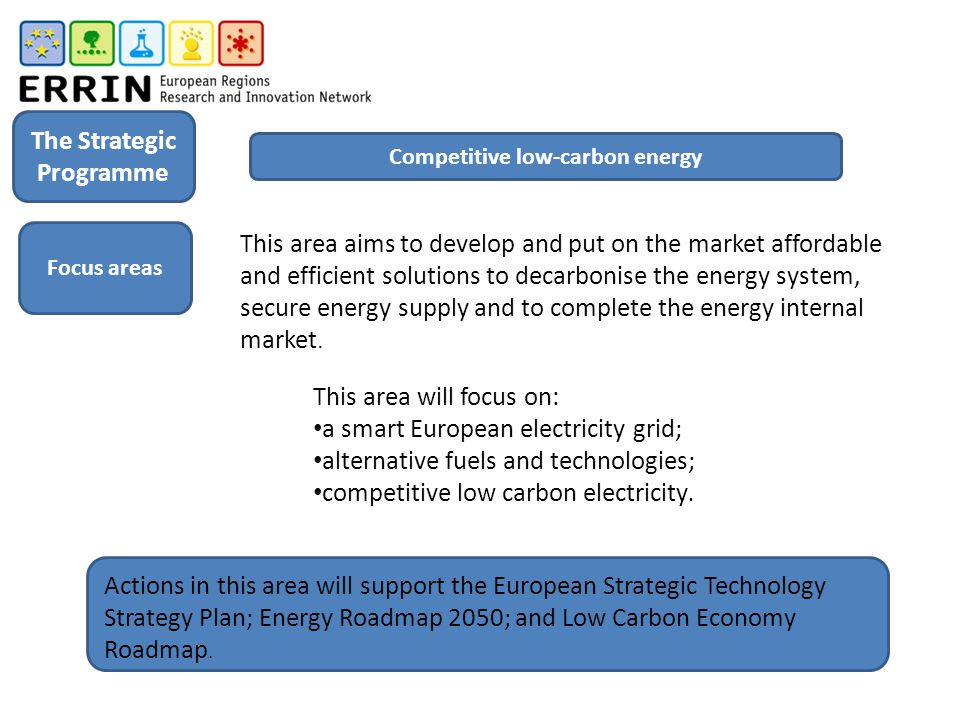 The Strategic Programme Competitive low-carbon energy
