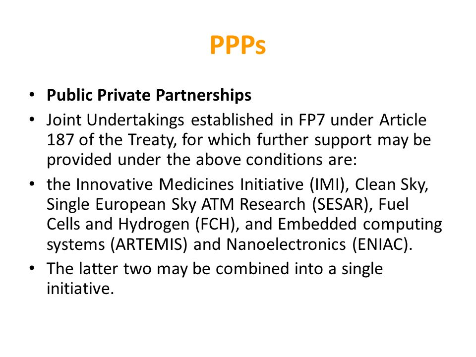 PPPs Public Private Partnerships