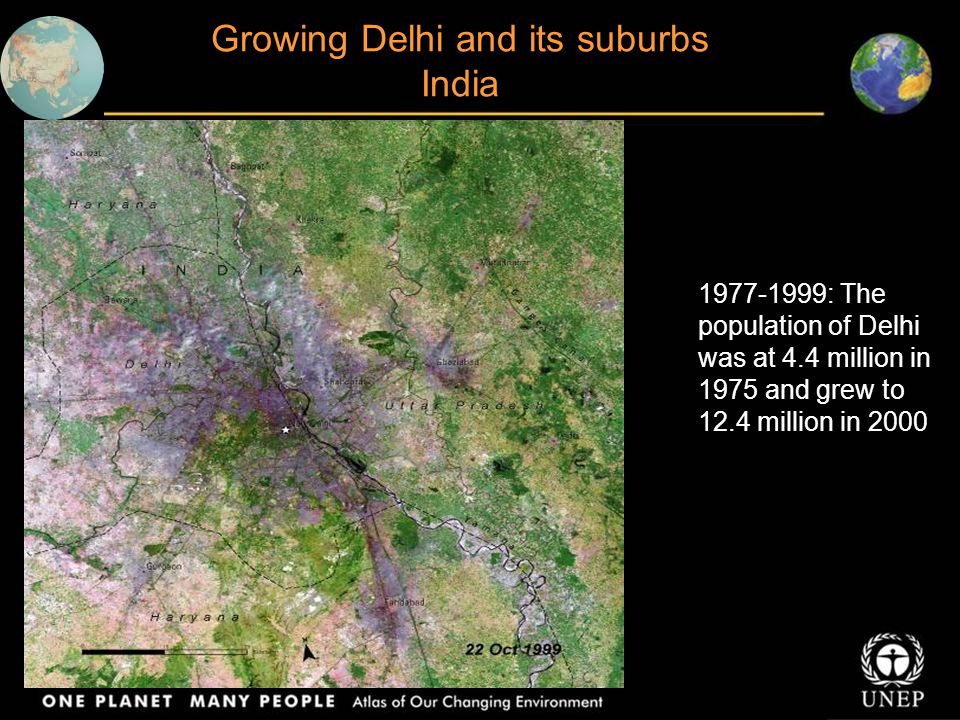 Growing Delhi and its suburbs India
