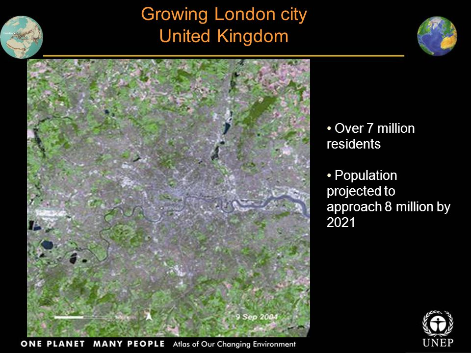 Growing London city United Kingdom Over 7 million residents