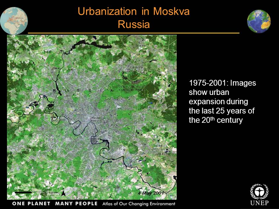 Urbanization in Moskva Russia