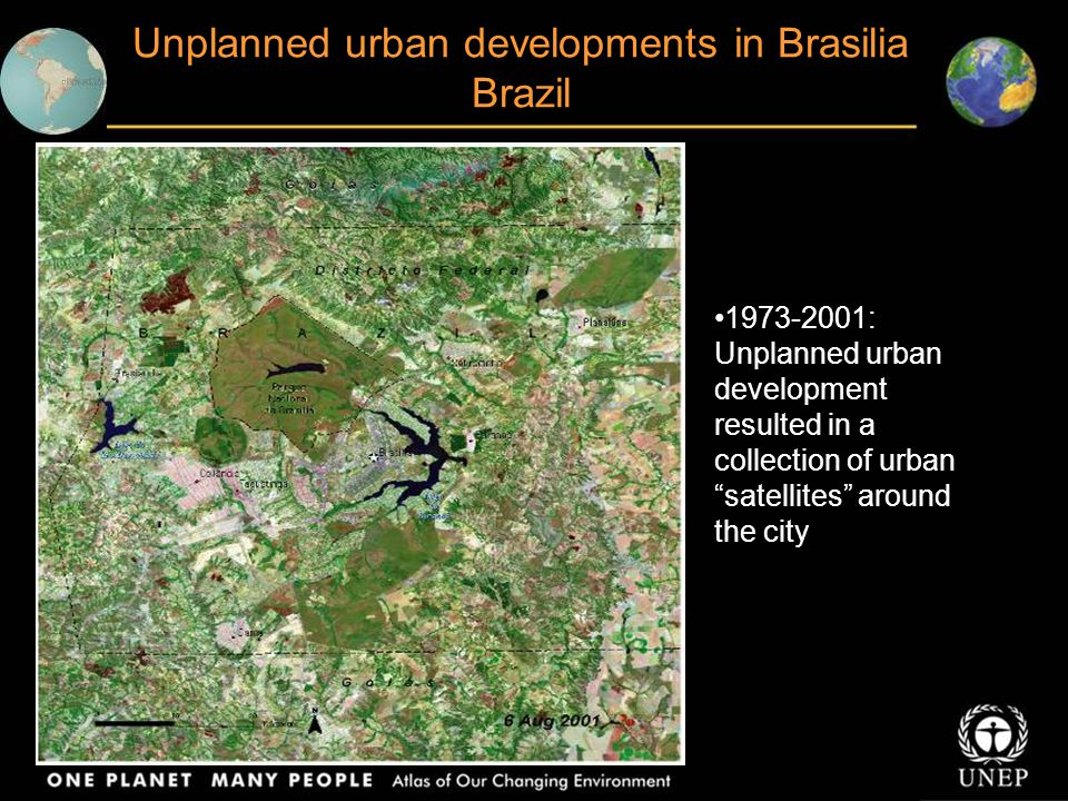 Unplanned urban developments in Brasilia Brazil