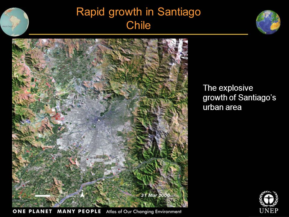 Rapid growth in Santiago Chile