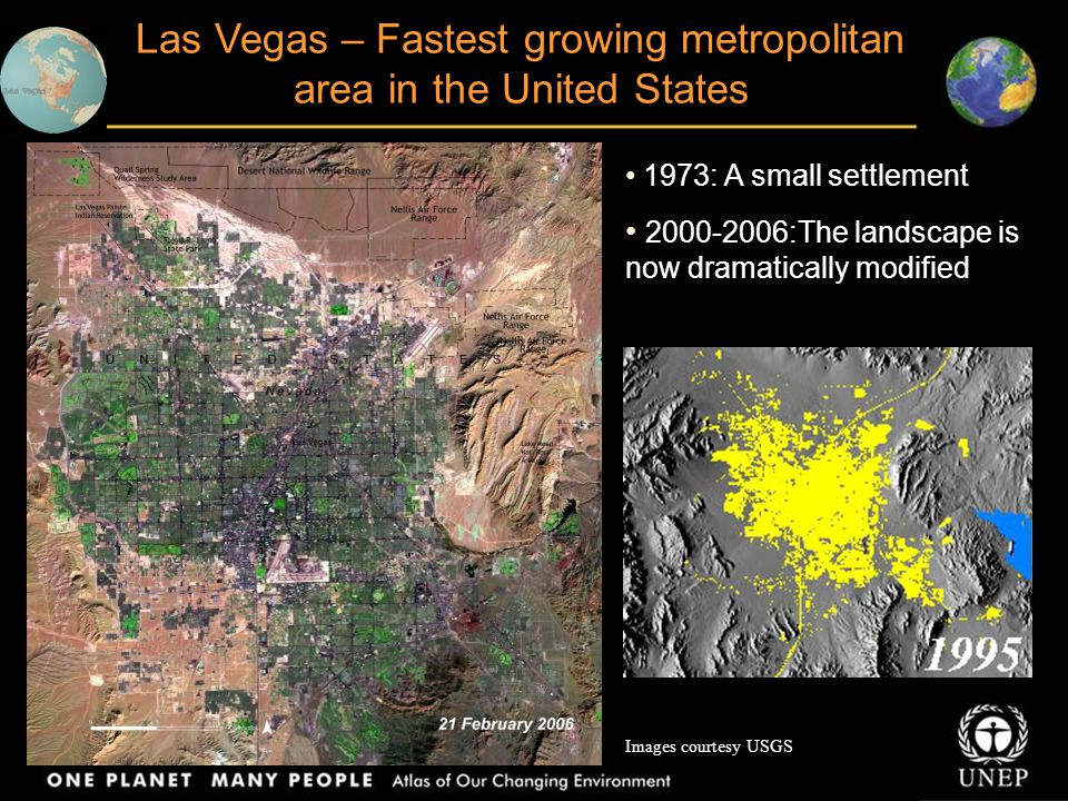 Las Vegas – Fastest growing metropolitan area in the United States
