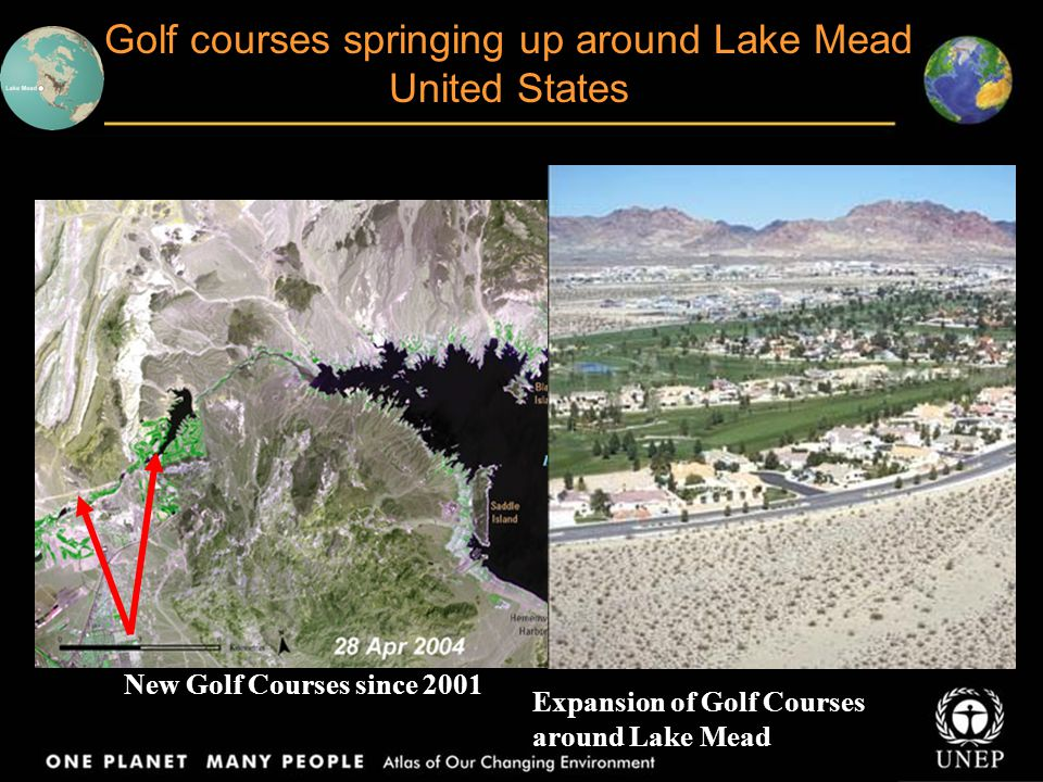 Golf courses springing up around Lake Mead United States
