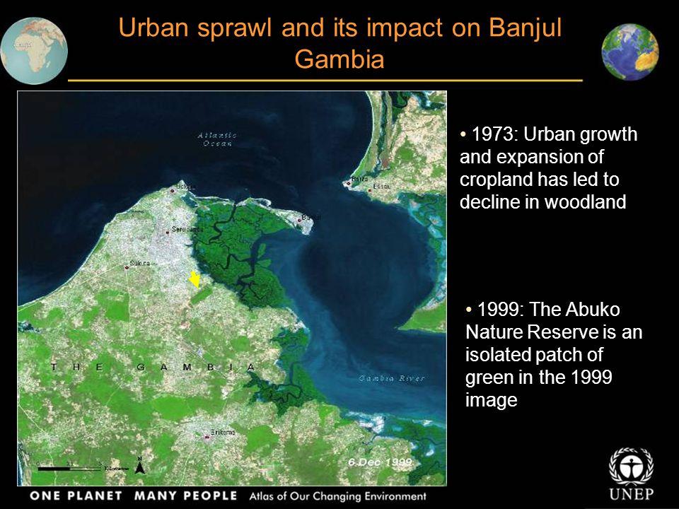 Urban sprawl and its impact on Banjul Gambia