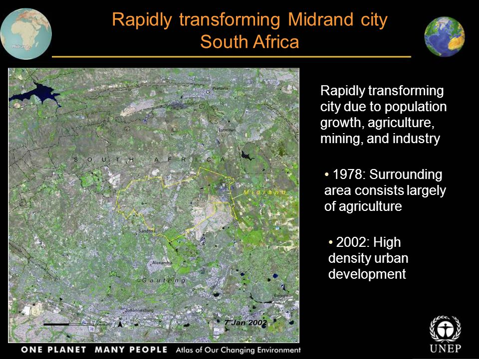 Rapidly transforming Midrand city South Africa