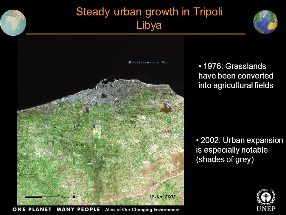 Steady urban growth in Tripoli Libya