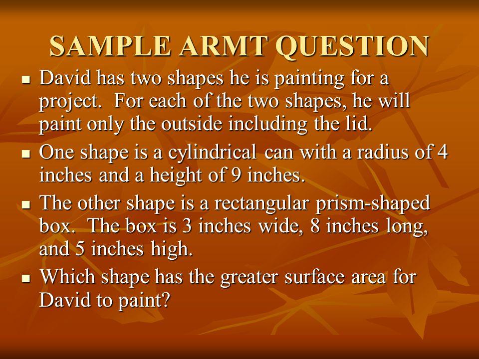 SAMPLE ARMT QUESTION