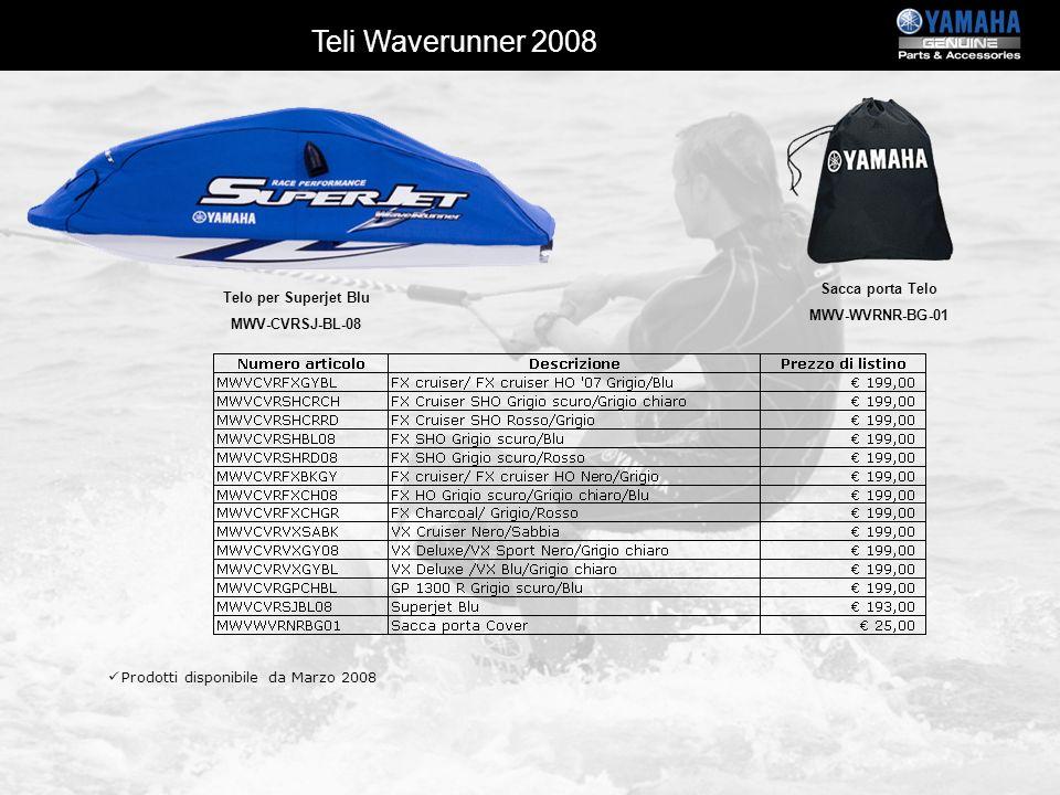 Teli Waverunner 2008 Sacca porta Telo MWV-WVRNR-BG-01