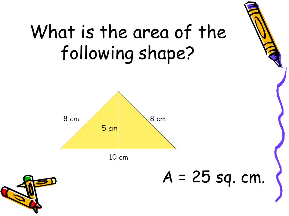 What is the area of the following shape