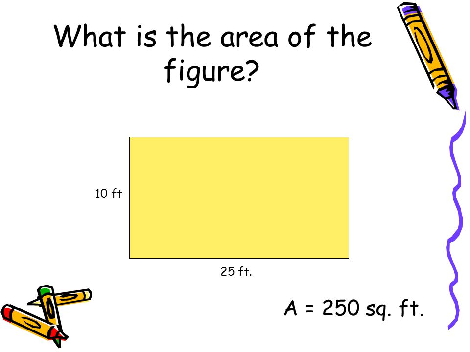 What is the area of the figure