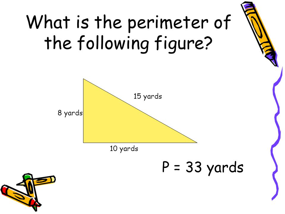 What is the perimeter of the following figure
