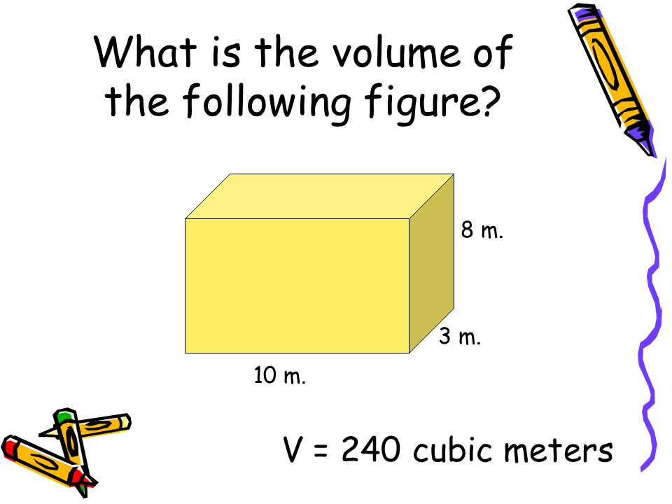 What is the volume of the following figure