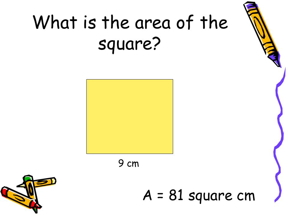 What is the area of the square