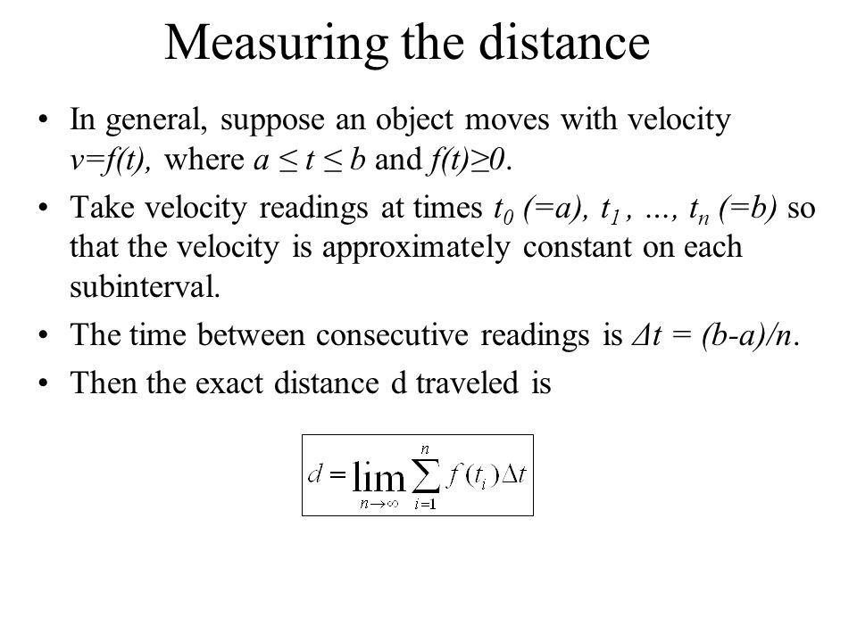 Measuring the distance