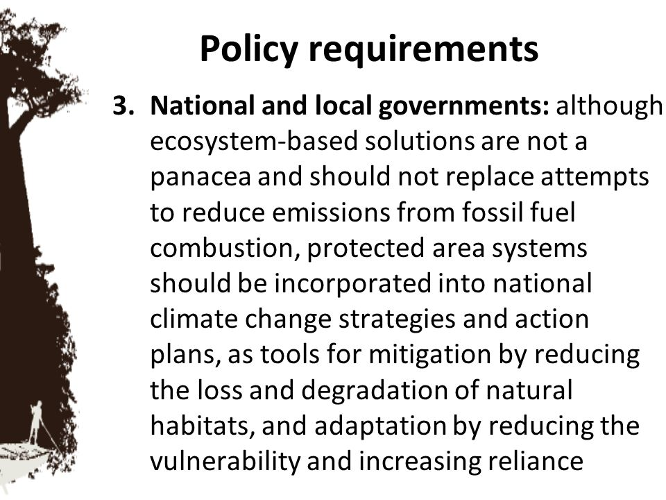 Policy requirements