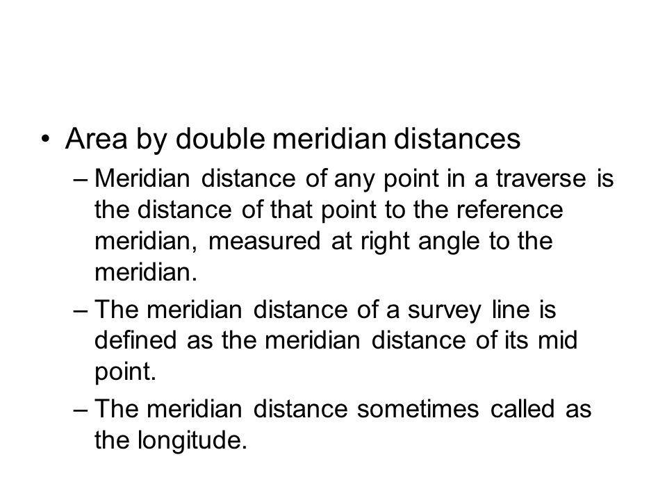 Area by double meridian distances