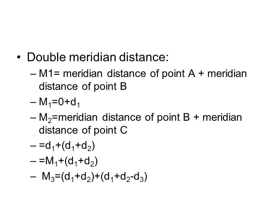 Double meridian distance: