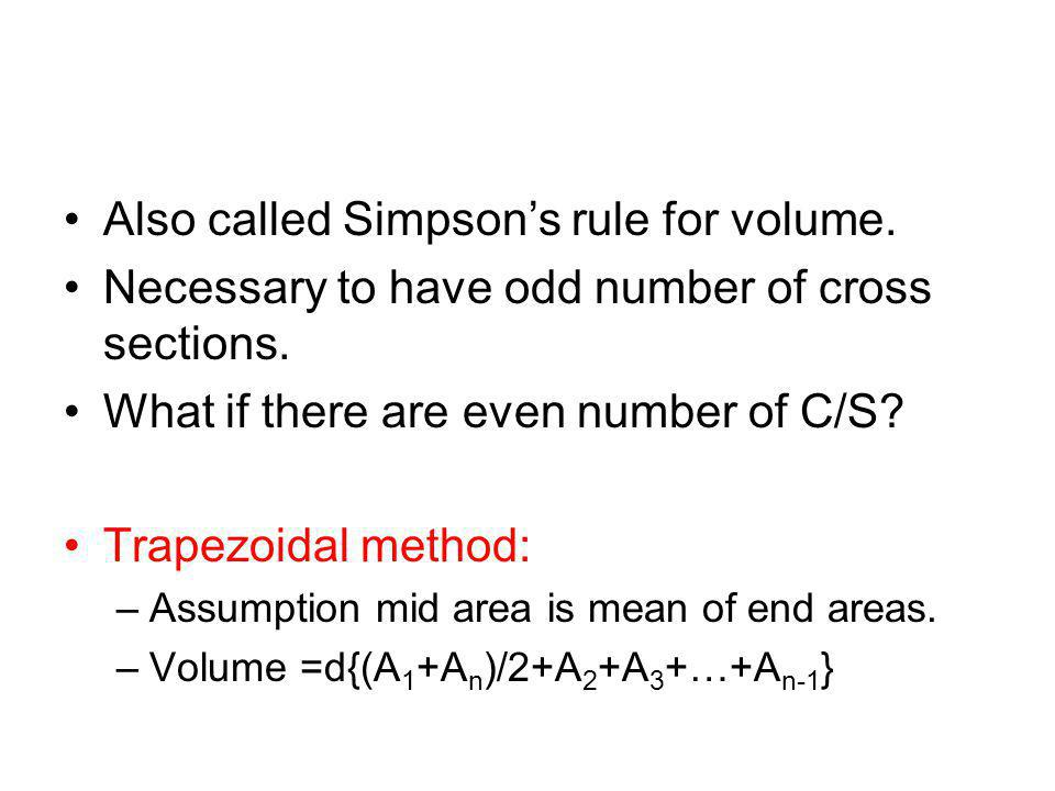 Also called Simpson's rule for volume.