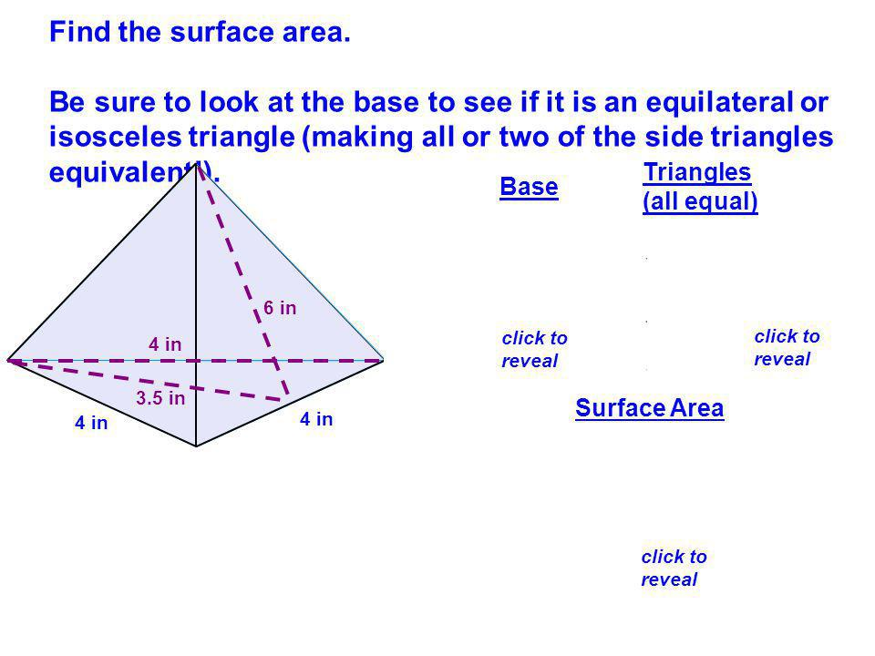Find the surface area.