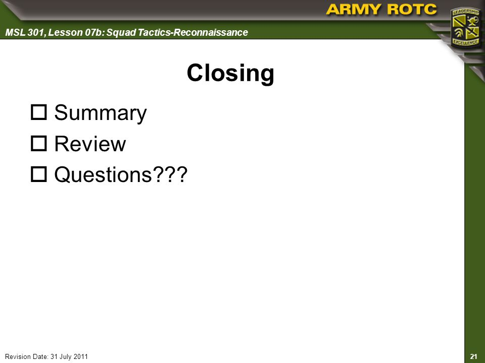 Closing Summary Review Questions 25