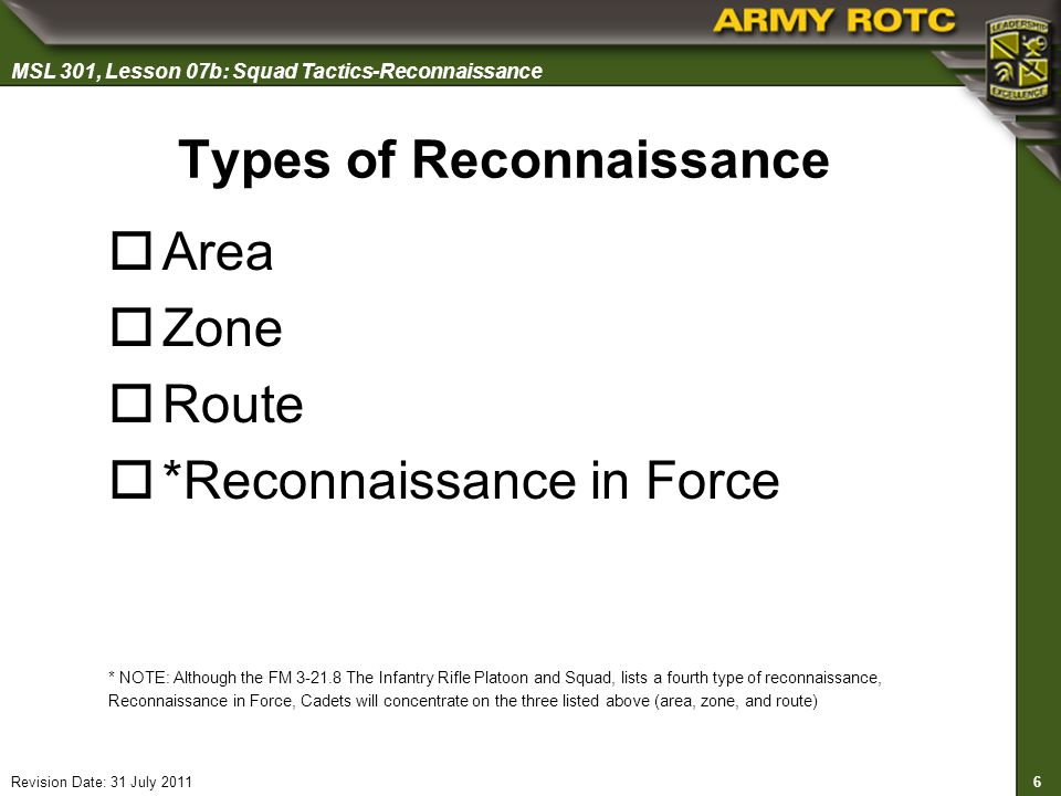 Types of Reconnaissance