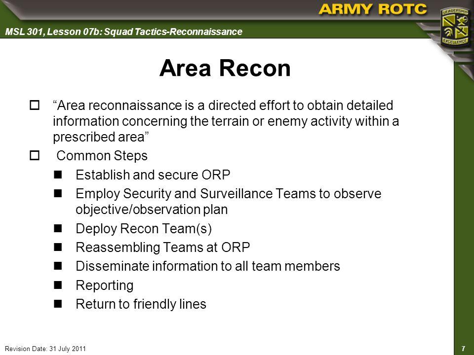 Area Recon