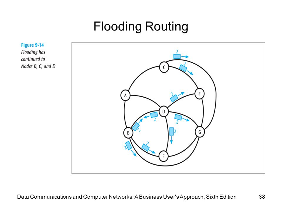 Flooding Routing Data Communications and Computer Networks: A Business User s Approach, Sixth Edition.
