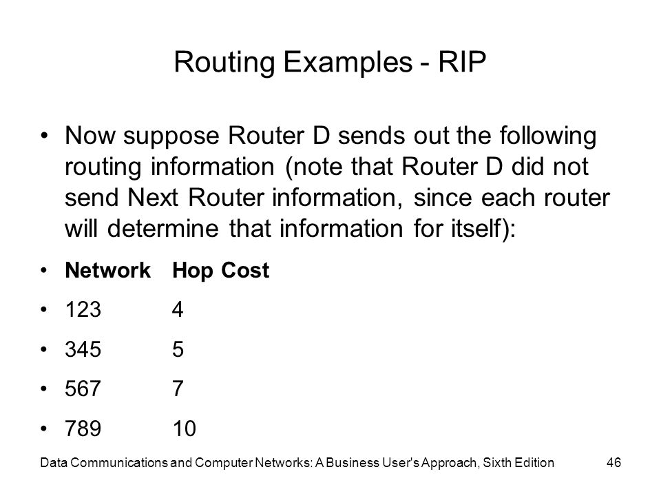 Routing Examples - RIP