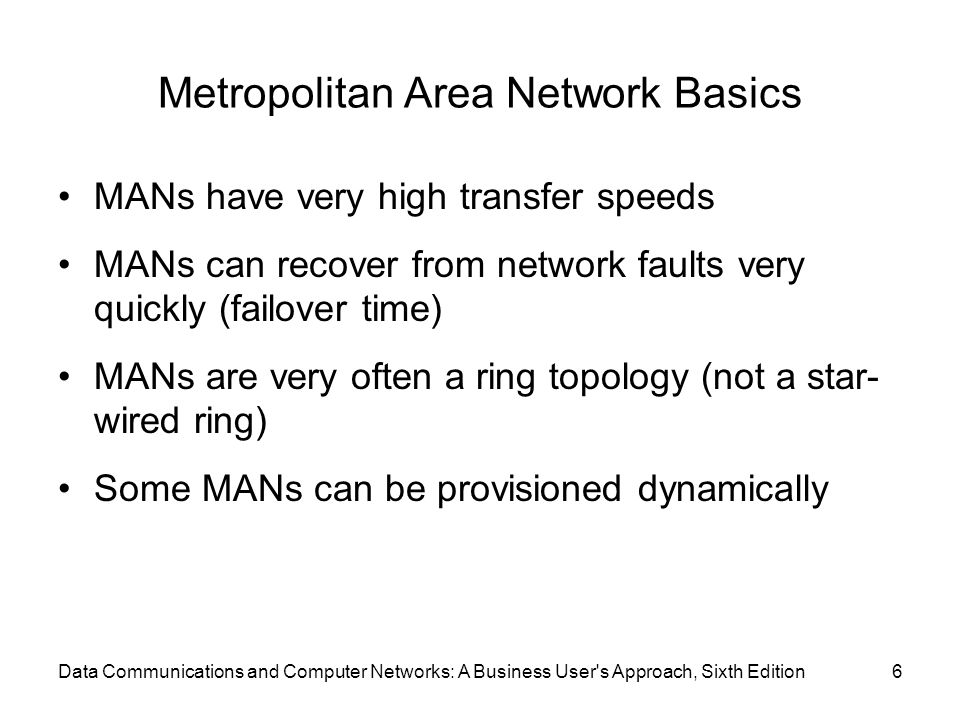Metropolitan Area Network Basics