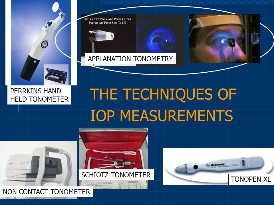 THE TECHNIQUES OF IOP MEASUREMENTS
