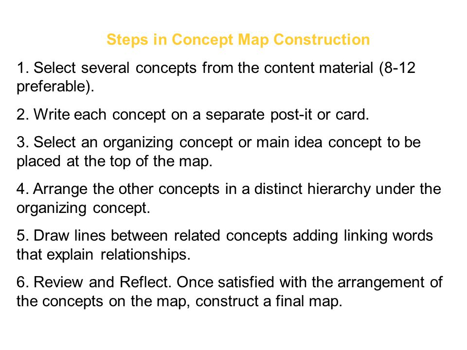 Steps in Concept Map Construction
