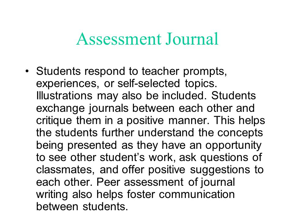 Assessment Journal
