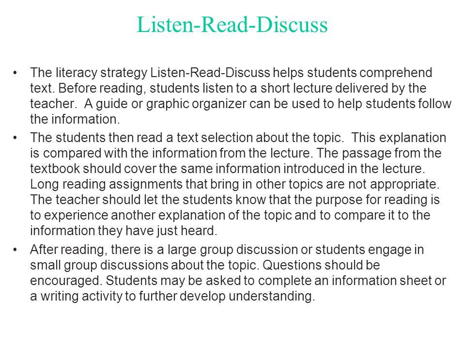 Listen-Read-Discuss