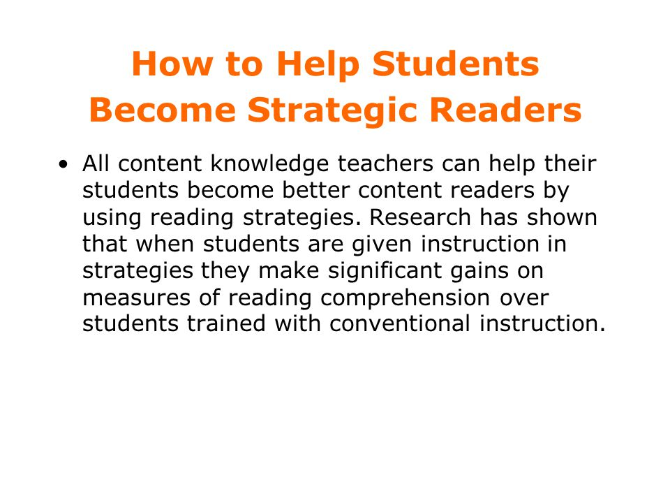How to Help Students Become Strategic Readers