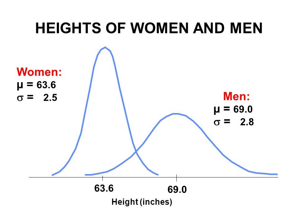 HEIGHTS OF WOMEN AND MEN